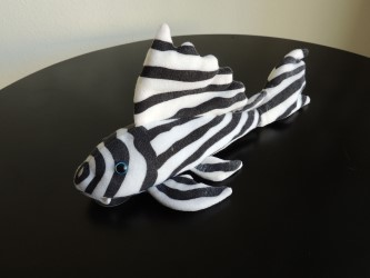 Plecostomus Plush Toy Zebra Catfish