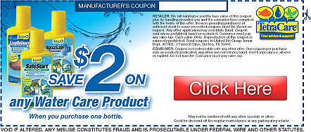 Save on Tetra Water Care Products