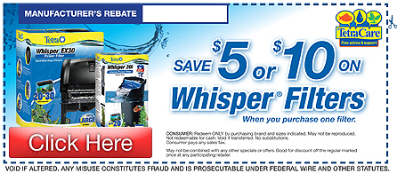 Save on Tetra Whisper Filters